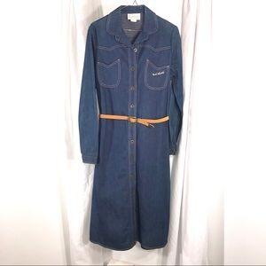 Vintage 1970s Denim Dress by Gloria Vanderbilt